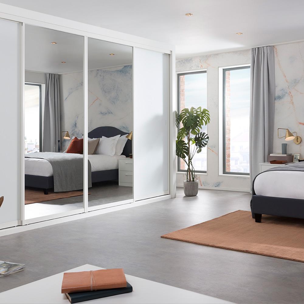 marbled look bedroom by hannah cork