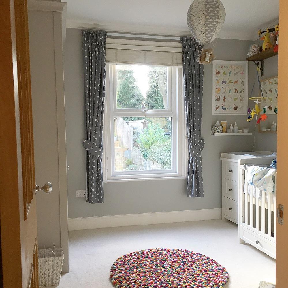 window in a nursery