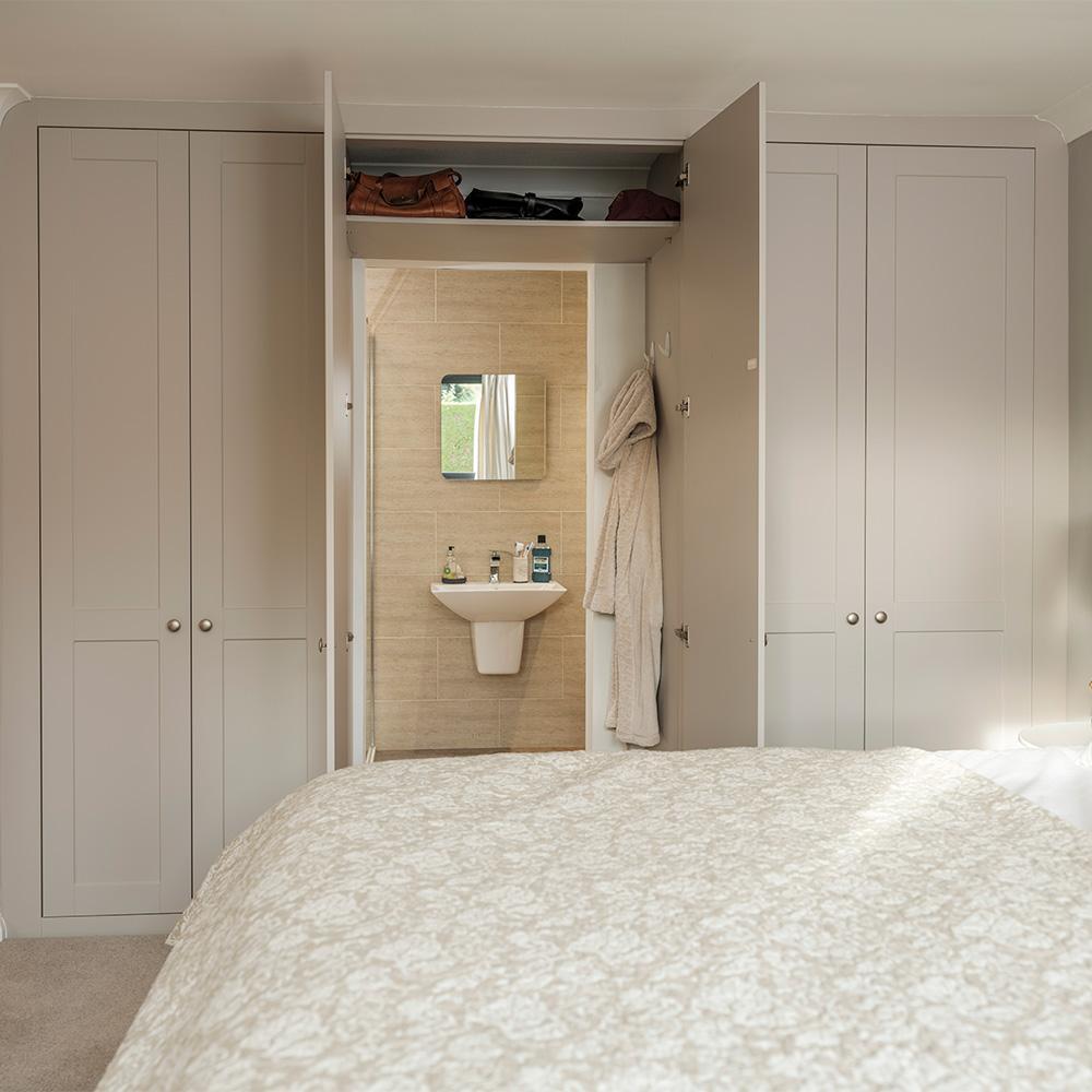 en suite in a wardrobe