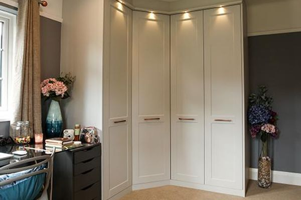 a stunning grey copper dressing room maximising space from every angle 44094