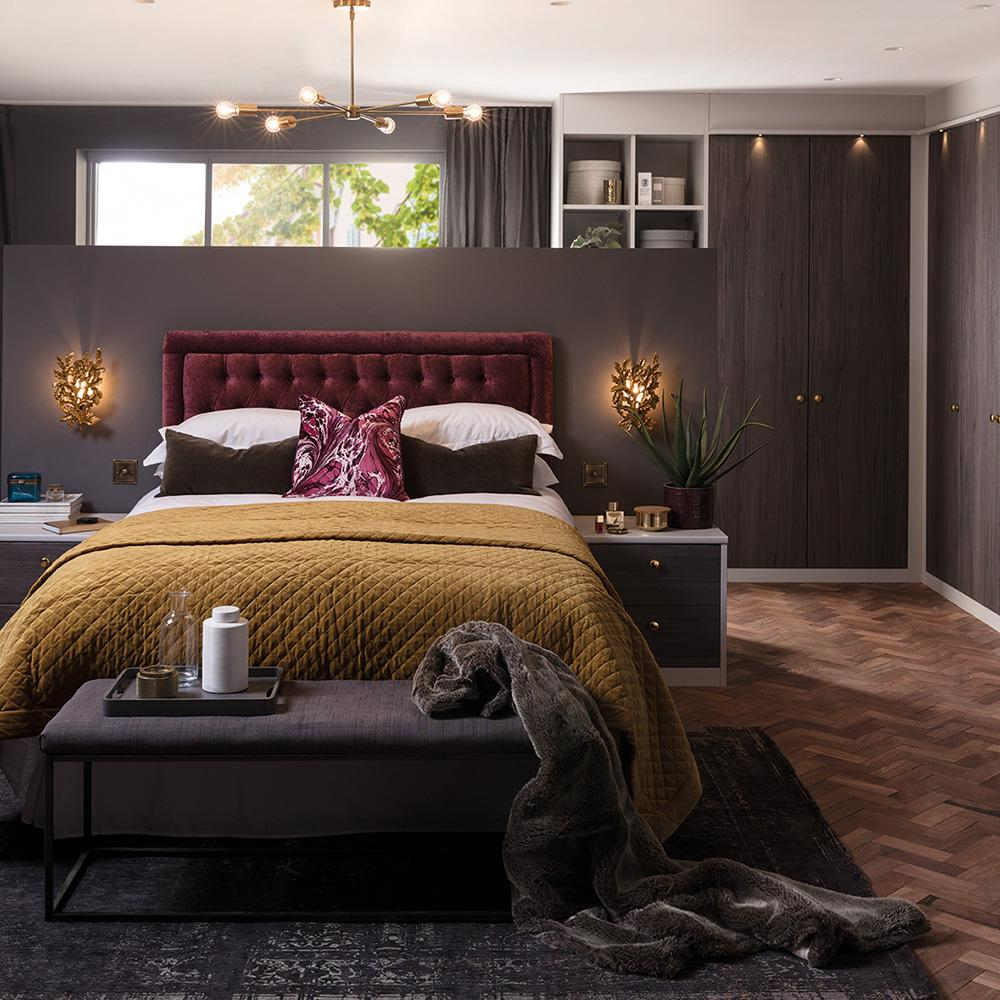 charcoal electric bedroom by hannah cork